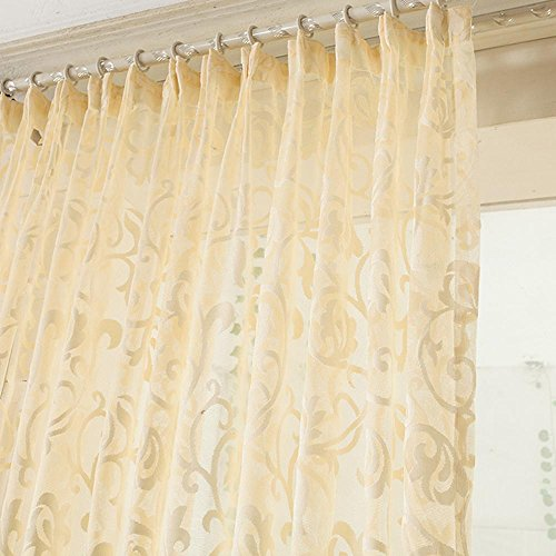 Greenearth Sheer Voile Window Curtains Drapes Panels Treatments Size 60 Inch Width X 84 Inch
