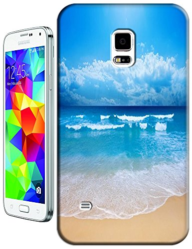 Cell Phone Case Beach Design Beautiful Sunshine Water Trees For Samsung Galaxy S5 I9600 No.1