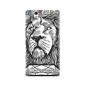 Motivatebox - Sony Xperia T2 Back Cover - Lion King Polycarbonate 3D Hard case protective back cover. Premium Quality designer Printed 3D Matte finish hard case back cover.