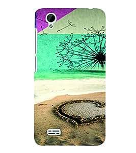 PrintVisa Romantic Love Beach 3D Hard Polycarbonate Designer Back Case Cover for VivoY31L