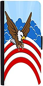 Snoogg Bald Eagle 4Th Of July Vector Theme Design Designer Protective Phone Flip Case Cover For Obi Worldphone Sf1