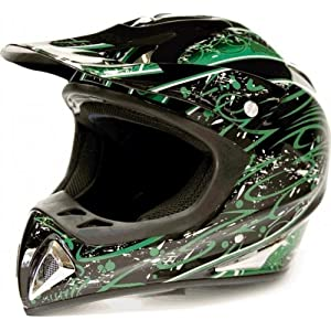 Adult ATV Motocross Helmet Dirt Bike or Motorcycle GREEN 238