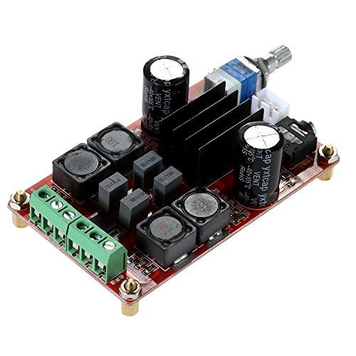 KKmoon TPA3116D2 2 * 50W Amplificatore di Potenza Scheda di amplificazione, Classe D DC12V 24V, a Doppio Canale Audio Stereo AMP