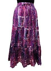 COTTON BREEZE Women's Cotton Regular Fit Skirt (Multi-Coloured, Free Size)