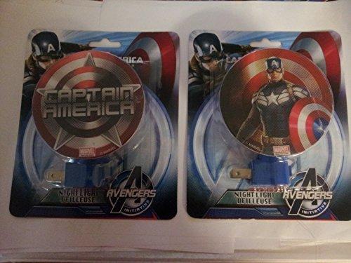 Avengers Night Light Captain America Set of 2 - 1