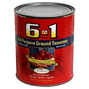 6 In 1 All Purpose Ground Tomatoes , 28-Ounce (Pack of 8)