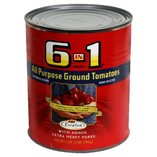 6 In 1 All Purpose Ground Tomatoes , 28-Ounce (Pack of 8) (1 Can Tomato Soup compare prices)