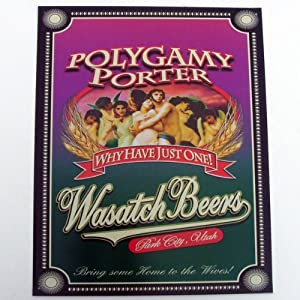 Amazon.com : Polygamy Porter Beer Sign Why Have Just One Tin Religious