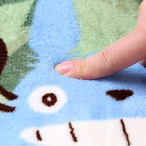 E.a@market Totoro Door Mat Ultrafine Coral Fleece Mat Bedroom Carpet