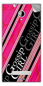 GsmKart PEI Mobile Skin for Panasonic Eluga I (Pink, Eluga I-819)