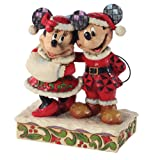 Enesco Disney Traditions by Jim Shore Santa Mickey and Minnie Mouse Figurine, 6-Inch