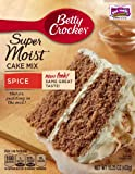 Betty Crocker Supermoist Spice Cake Mix, 15.25-Ounce (Pack of 6)