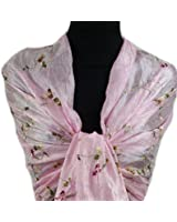 GFM Beautiful Thai Silk-Effect Embroidered Scarf (THSK)