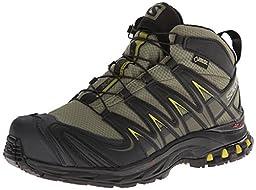 Salomon Men\'s XA Pro Mid GTX Hiking Shoe,Iguana Green/Black/Corylus Green,9.5 M US