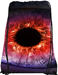Snoogg The Eye Of The Storm Nylon Drawstring Casual Bag / Sack Bag