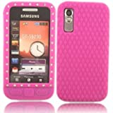 Diamante Silicone Shell Case Cover For Samsung Tocco Lite S5230 / Pink