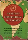 img - for Webster's Geographical Dictionary book / textbook / text book