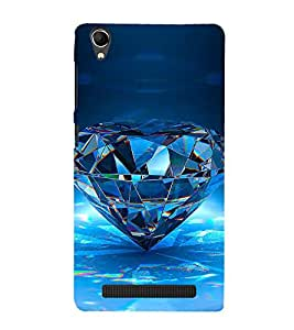 Vizagbeats diamond Back Case Cover for Intex Aqua Power Plus