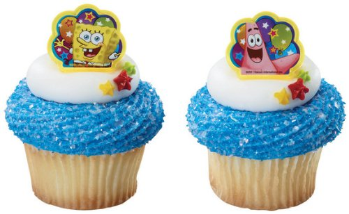 12 ct - Spongebob Squarepants and Patrick Birthday Party Cupcake Rings - 1