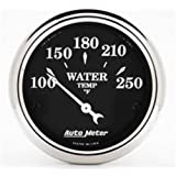 Auto Meter 1737 Old Tyme Black Water Temperature Gauge