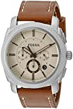Fossil Men's FS5131 Stainless Steel Watch with Brown Strap