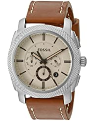Fossil Machine Analog Beige Dial Men's Watch - FS5131