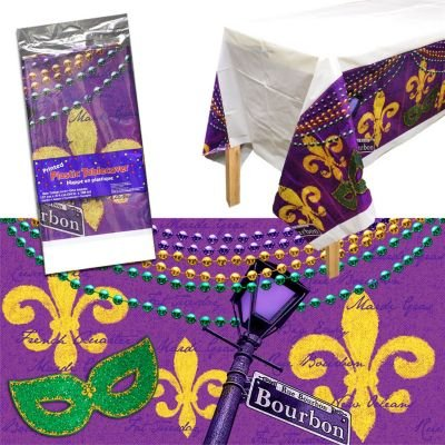 Bourbon Street Plastic Table Cover