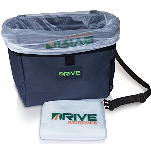 Drive Car Garbage Can - Best Auto Trash Bag for Litter, Waste Basket Liners - Hanging Recycle Bin is Universal, Waterproof Organizer Makes a Great Drink Cooler & Road Trip Gift