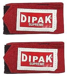 DI DIPAK Cotton Boxing Tape Wraps (150 Cm x 5 cm, 1 Pair, Red)