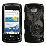 Skull Wing Phone Protector Cover for LG VS740 (Ally)