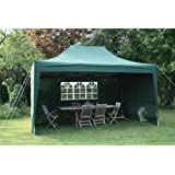 Airwave 4.5mtr x 3mtr Green Pop Up Gazebo, FULLY WATERPROOF, with Four Side Panels, Integral Windbar and Carry Bagby ESC Ltd