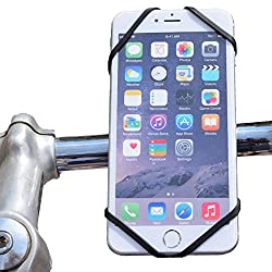 CNCT Removable Bike Handle bar Mount - Silicon Flexible Handlebar Mount - Portable Phone mount for BIKE HANDLEBAR - BABY STROLLER - GOLF CART STEERING WHEEL - Bike Phone Mount - Suitable for phone from 4