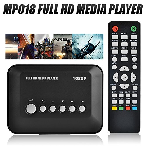 Blusmart® 1080P Full HD Multi TV Media Player HDMI Video Player