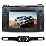 For TOYOTA Land Cruiser Prado  2003 2009  7  CAR DVD Player GPS Rear Camera Bluetooth Free Map CD6016GR
