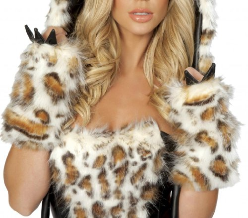 J. Valentine Women's Claw Gloves for Frisky Kitty Halloween Costume