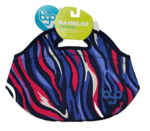 BYO Rambler Lunch Bag Blue/Purple/Hot Pink/White Flames