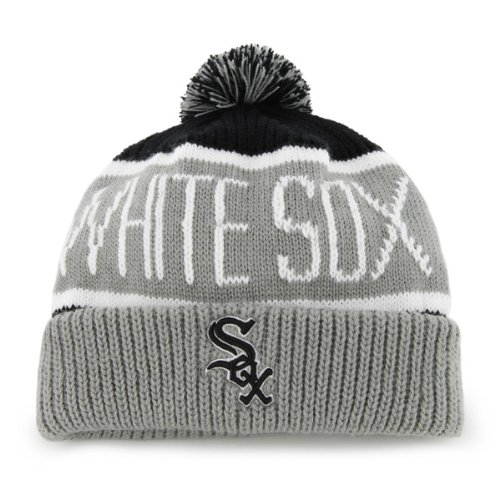 "Chicago White Sox ""Calgary"" Beanie Hat with Pom - MLB Cuffed Winter Knit Toque Cap at Amazon.com"