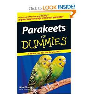 Parakeets For Dummies Nikki Moustaki