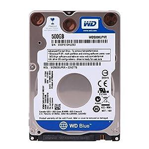 WD Blue Disque dur interne (Bulk) Laptop Mainstream 500 Go 2,5 pouces SATA 5400 RPM 7mm