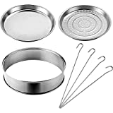 VonShef Universal Halogen/Convection Oven Accessory Set with Extender Ring, Skewers, Steamer and Frying Pan