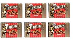 Demet\'s Turtles Original, Caramel Nut Clusters, Pecans Chocolate Caramel Pack of 6 Boxes