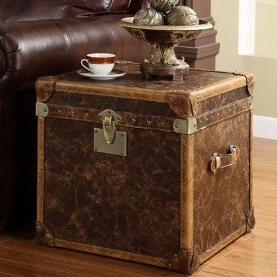 Image of Steamer Leather Storage End Table (ST037-3327)