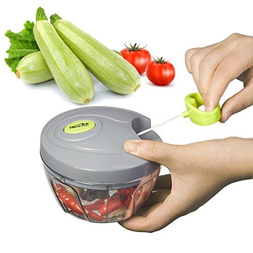 HOMEPUFF Hachoir Manuel de Légumes FruitsCoupe-légumes et Fruits spiral Decoupe legume fruit Manuel Outil de cuisine Multifonctionnel rapidement (450ML)