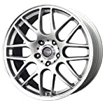 Drag DR-37 Silver Wheel with Machined Lip (17×7.5″/5x120mm)