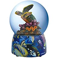 100mm Colorful Majestic Turtle Swimming in Coral Reef Water Globe