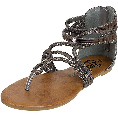 Refresh Shoes, Sandali donna Grigio grigio, Grigio (Grigio scuro), 36
