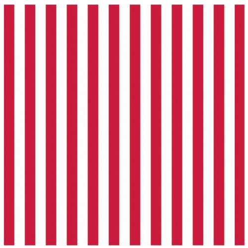 Red Stripe Jumbo Gift Wrap Party Accessory - 1