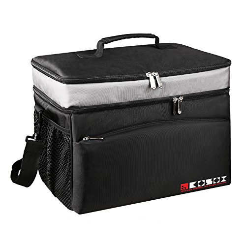 KOSOX 30-Can Collapsible Cooler Bag, Large Capacity, Multi Pockets, Thermal Insulated Waterproof Soft Cooler, for Outdoor Picnic Camping Fishing Travel etc. (Collapsible Cooler Waterproof compare prices)