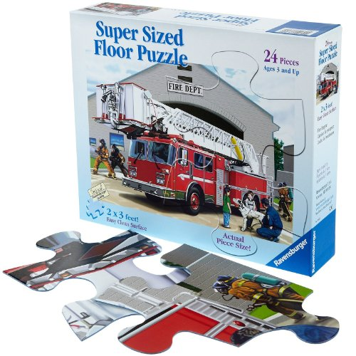 Cheap Fun Ravensburger Fire Engine Super Sized Floor Puzzle (24 pc) — (B005H7BAZU)