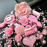 Beading Station BSI 3D DIY Bling Bling Cell Phone Case Resin Flat Back Kawaii Cabochons Decoration Kit/Set, Pink
